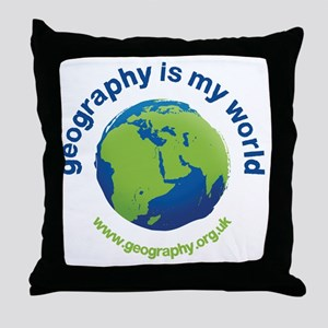 GeographyIsMyWorld Throw Pillow